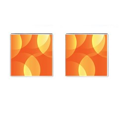 Abstract Orange Yellow Red Color Cufflinks (square)