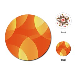 Abstract Orange Yellow Red Color Playing Cards (round)