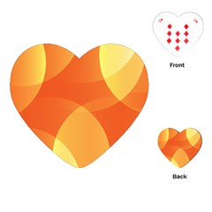 Abstract Orange Yellow Red Color Playing Cards (heart)