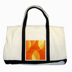 Abstract Orange Yellow Red Color Two Tone Tote Bag