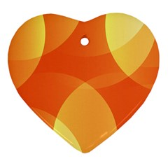 Abstract Orange Yellow Red Color Heart Ornament (two Sides)