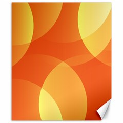 Abstract Orange Yellow Red Color Canvas 8  x 10