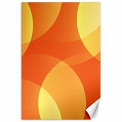 Abstract Orange Yellow Red Color Canvas 24  X 36