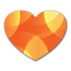 Abstract Orange Yellow Red Color Heart Mousepads