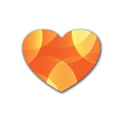 Abstract Orange Yellow Red Color Heart Coaster (4 pack)