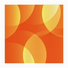 Abstract Orange Yellow Red Color Medium Glasses Cloth
