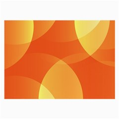 Abstract Orange Yellow Red Color Large Glasses Cloth