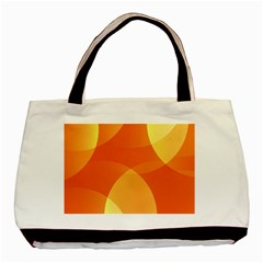 Abstract Orange Yellow Red Color Basic Tote Bag (two Sides)