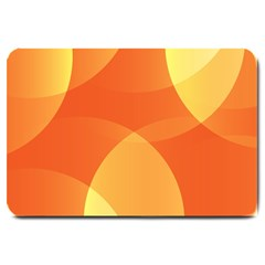 Abstract Orange Yellow Red Color Large Doormat