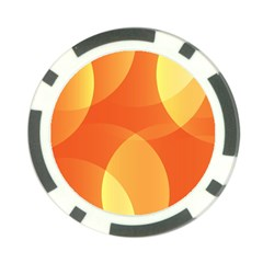 Abstract Orange Yellow Red Color Poker Chip Card Guard