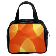 Abstract Orange Yellow Red Color Classic Handbags (2 Sides)