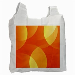 Abstract Orange Yellow Red Color Recycle Bag (One Side)