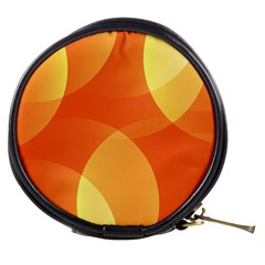Abstract Orange Yellow Red Color Mini Makeup Bags
