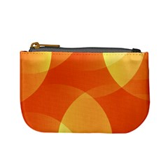 Abstract Orange Yellow Red Color Mini Coin Purses