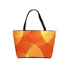 Abstract Orange Yellow Red Color Shoulder Handbags