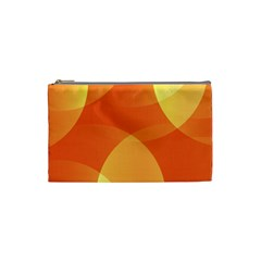 Abstract Orange Yellow Red Color Cosmetic Bag (Small)