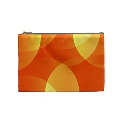 Abstract Orange Yellow Red Color Cosmetic Bag (medium)
