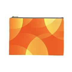 Abstract Orange Yellow Red Color Cosmetic Bag (Large)