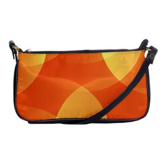Abstract Orange Yellow Red Color Shoulder Clutch Bags