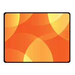 Abstract Orange Yellow Red Color Fleece Blanket (small)