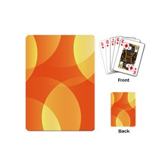 Abstract Orange Yellow Red Color Playing Cards (mini)