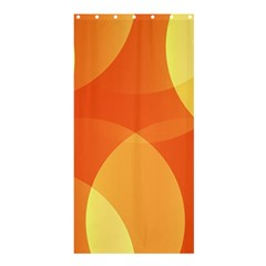 Abstract Orange Yellow Red Color Shower Curtain 36  X 72  (stall)