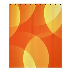 Abstract Orange Yellow Red Color Shower Curtain 60  X 72  (medium)