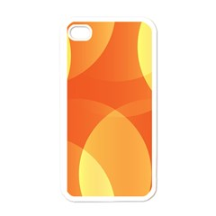Abstract Orange Yellow Red Color Apple iPhone 4 Case (White)