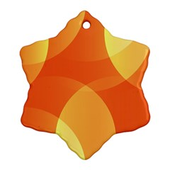 Abstract Orange Yellow Red Color Snowflake Ornament (two Sides)