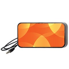 Abstract Orange Yellow Red Color Portable Speaker (Black)