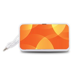 Abstract Orange Yellow Red Color Portable Speaker (White)