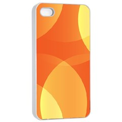 Abstract Orange Yellow Red Color Apple Iphone 4/4s Seamless Case (white)