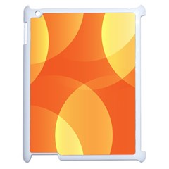 Abstract Orange Yellow Red Color Apple Ipad 2 Case (white)