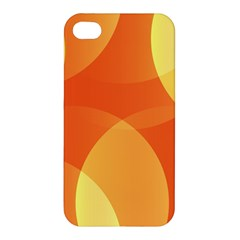Abstract Orange Yellow Red Color Apple iPhone 4/4S Premium Hardshell Case