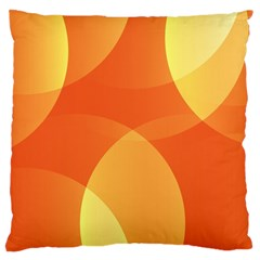 Abstract Orange Yellow Red Color Large Cushion Case (two Sides)