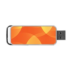 Abstract Orange Yellow Red Color Portable USB Flash (One Side)