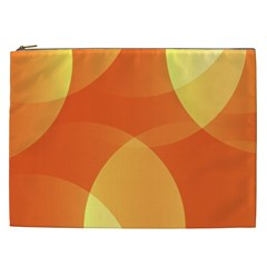 Abstract Orange Yellow Red Color Cosmetic Bag (xxl)