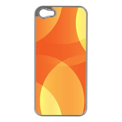 Abstract Orange Yellow Red Color Apple Iphone 5 Case (silver)