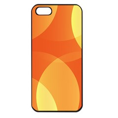 Abstract Orange Yellow Red Color Apple Iphone 5 Seamless Case (black)