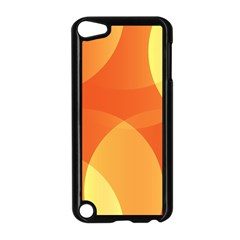 Abstract Orange Yellow Red Color Apple Ipod Touch 5 Case (black)