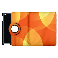 Abstract Orange Yellow Red Color Apple Ipad 2 Flip 360 Case