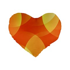 Abstract Orange Yellow Red Color Standard 16  Premium Heart Shape Cushions