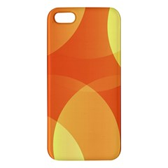 Abstract Orange Yellow Red Color Apple iPhone 5 Premium Hardshell Case