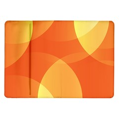 Abstract Orange Yellow Red Color Samsung Galaxy Tab 10.1  P7500 Flip Case