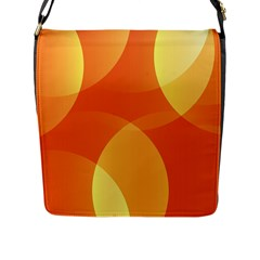 Abstract Orange Yellow Red Color Flap Messenger Bag (l)