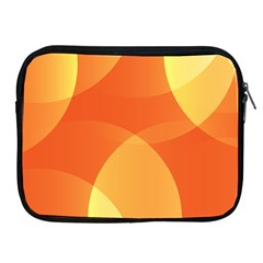 Abstract Orange Yellow Red Color Apple Ipad 2/3/4 Zipper Cases