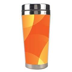 Abstract Orange Yellow Red Color Stainless Steel Travel Tumblers