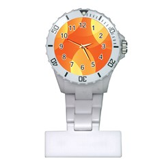 Abstract Orange Yellow Red Color Plastic Nurses Watch