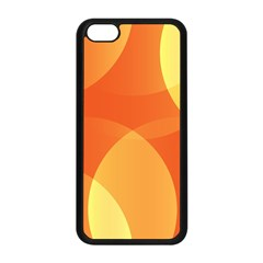 Abstract Orange Yellow Red Color Apple Iphone 5c Seamless Case (black)