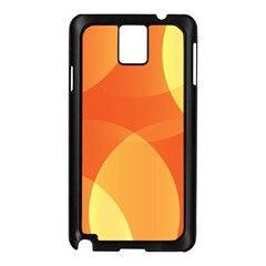 Abstract Orange Yellow Red Color Samsung Galaxy Note 3 N9005 Case (black)